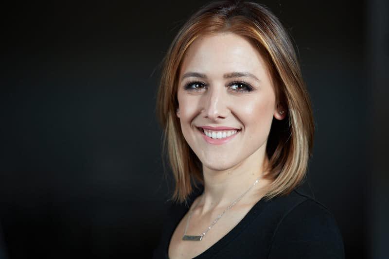 Professional Headshot - Female on Grey background